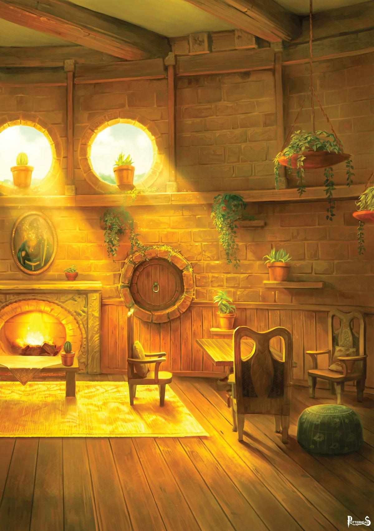 Sala Comune di Tassorosso Harry Potter - PotterPedia.it