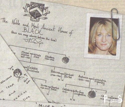 Primi Passi nell'albero di famiglia Black Harry Potter - PotterPedia.it