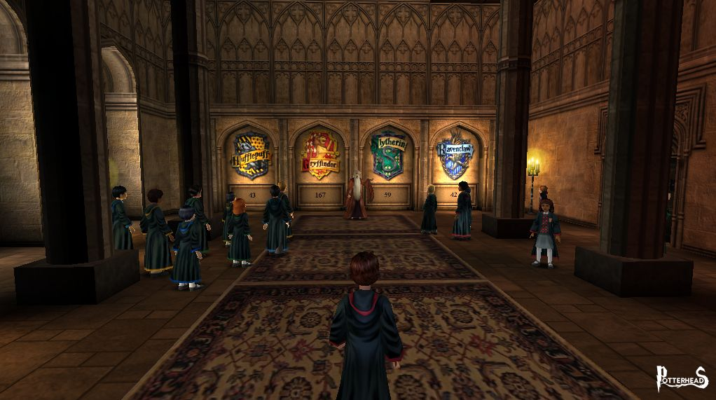 Stanza per la cerimonia dei punti delle Case Harry Potter - PotterPedia.it