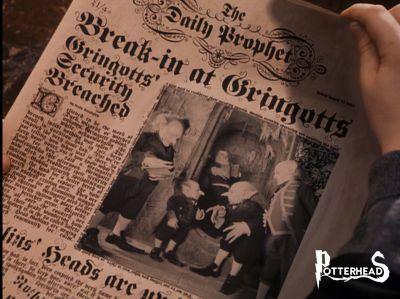Articolo Gazzetta del Profeta 1991: Ultimissime sulla rapina alla Gringott Harry Potter - PotterPedia.it
