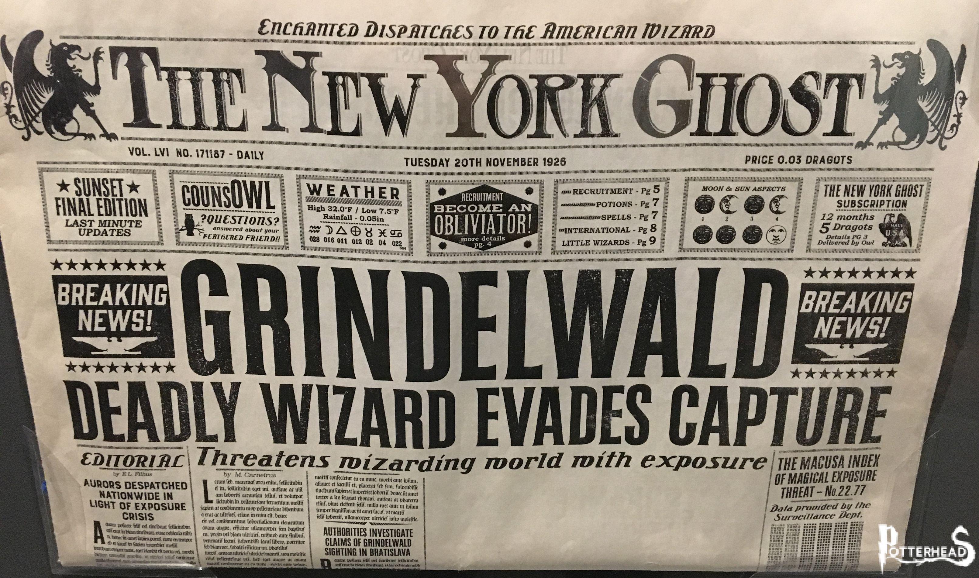 Lo Spettro di New York Harry Potter - PotterPedia.it