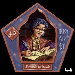 Miranda Goshawk Harry Potter - PotterPedia.it
